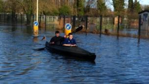A kayaker on Abingdon Road