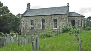 St Michael's Church in Eglwysfach, Ceredigion, where poet RS Thomas was a vicar between 1954 and 1967, is one of eight churches receiving grants in the latest funding round from the Heritage Lottery Fund (HLF)