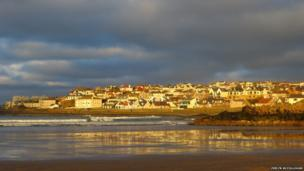 Almost a day after the storm passed, the waves at Portstewart in County Londonderry had returned to a sense of normality - as Evelyn McCullough's picture shows.
