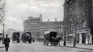 Clerkenwell Fire Station in about 1904