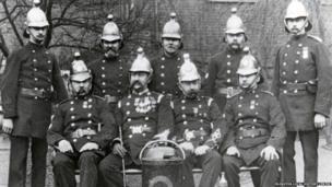Firefighters from Clerkenwell Fire Station taken in 1900