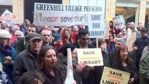 Library supporters in Sheffield