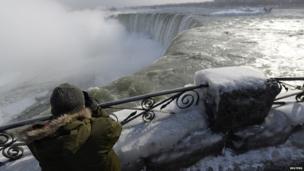 Niagara Falls frozen!