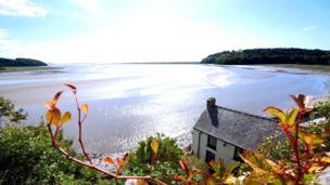 The house overlooking the estuary