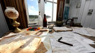 The view from Thomas' writing desk