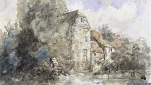 Fittleworth Mill by John Constable - pencil and watercolour on paper