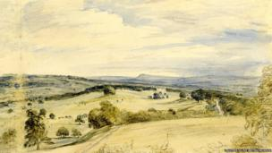 Petworth Park by John Constable