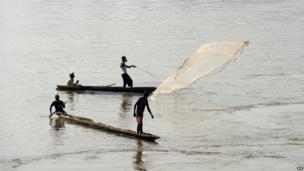 Fishermen near Bangui, Central African Republic - Sunday 5 January 2014