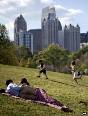 Piedmont Park in Atlanta, US (Image: AP)