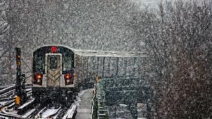 Snow covered train. Nishanth Gopinathan