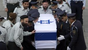 Coffin at Knesset