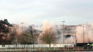Demolished car park. Photo: Ieuan Berry
