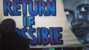 Mark Duggan banner. Photo: Rejoice Bhila