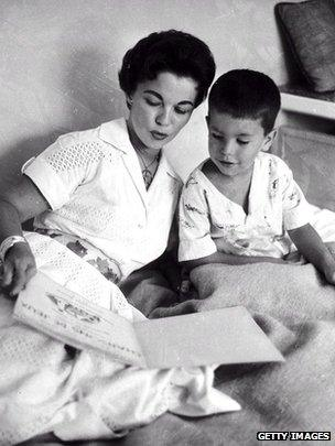 Shirley Temple and her son