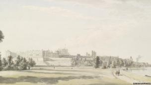 Windsor Castle from the north c.1765
