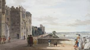 The North Terrace of Windsor Castle c.1780