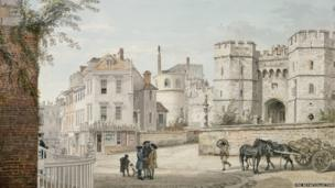 The Henry VIII Gateway from Castle Hill c.1760