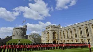 Windsor Castle round tower and quadrangle