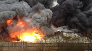 Newport Pagnell fire. Photo: Sarah Bacon