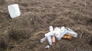 Marine rubbish found during beach clean