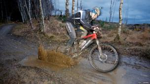 Strathpuffer cyclist