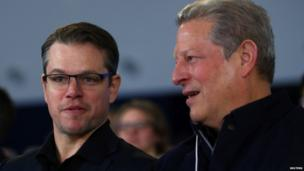 Matt Damon and Al Gore