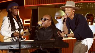 Daft Punk with Nile Rodgers, Stevie Wonder and Pharrell Williams