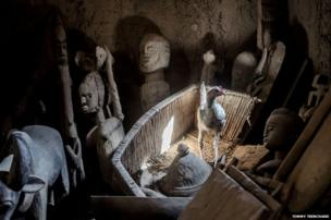 Wooden carvings in Mali