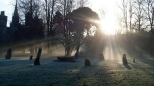 The stone circle in Bute Park, Cardiff