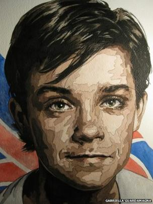 Robbie Williams painting