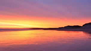 Sunrise at East Beach in Lossiemouth in Moray