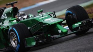 Kamui Kobayashi Caterham during day four of Formula One Winter Testing at the Circuito de Jerez