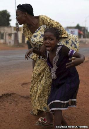 Mother and child in Bangui