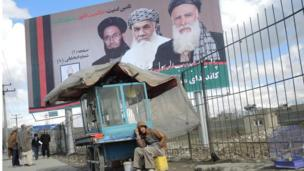 Afghan election - Abdul Rasul Sayyaf