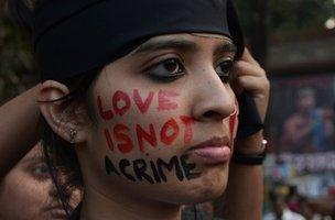 Indian gay rights protester