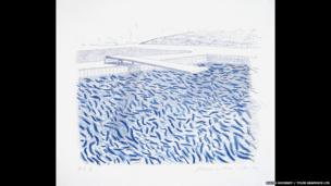 David Hockney, Lithographic Water Made of Lines and Crayon (Pool II-B), 1978-80