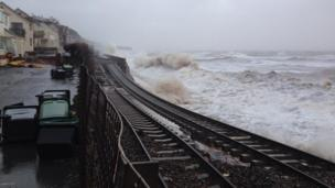 A section of the track near Dawlish