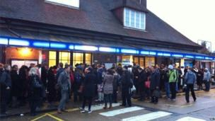 Scene outside Stanmore station