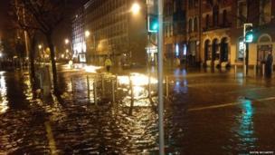 Flood water in Cork