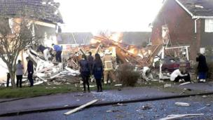 Scene of gas explosion in Cloes Lane, Clacton-on-Sea