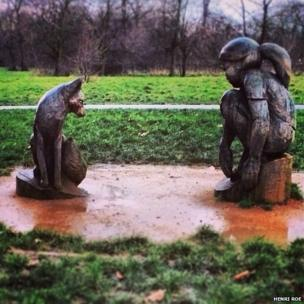 Statues in Regent's Park