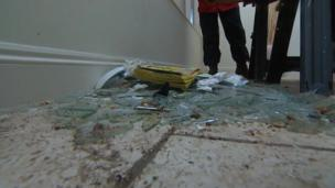 Debris in a Torcross holiday home