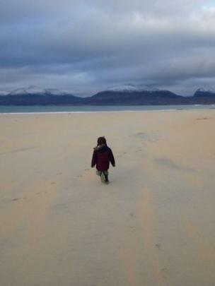 Rory on Luskentyre beach