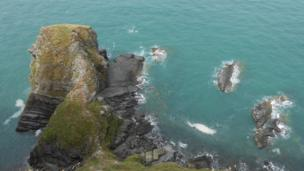 Sea and rocks near New Quay, Ceredigion