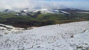 Llanferres, Denbighshire, below the summit of Moel Famau