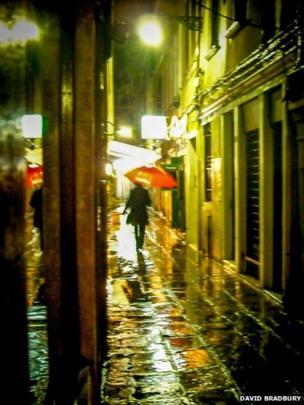 Wet street in Venice