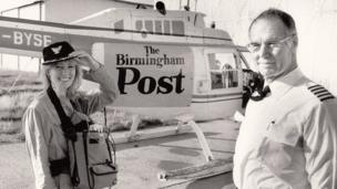 Travel reporter Charlie Neil in the BRMB Eye in the Sky back in the 80s