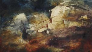 Cwm Creigiog, Gogledd Cymru (1948) gan John Piper