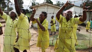 Women prisoners celebrate news of their imminent release, Harare, Zimbabwe - Monday 17 February 2014