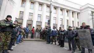 Protesters in Kiev. 22 Feb 2014
